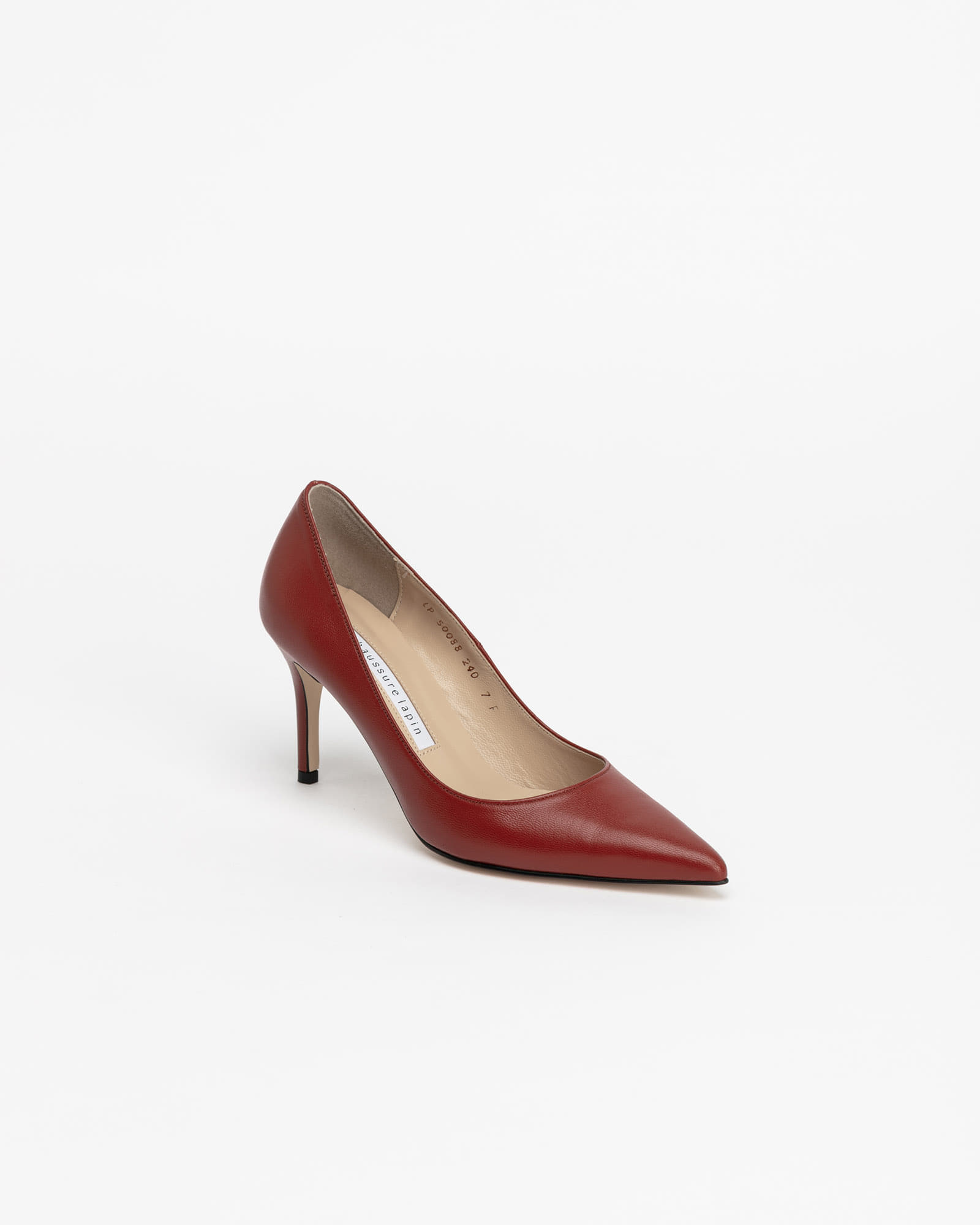 Chauffeur Stilletto Pumps in Ruby Brown