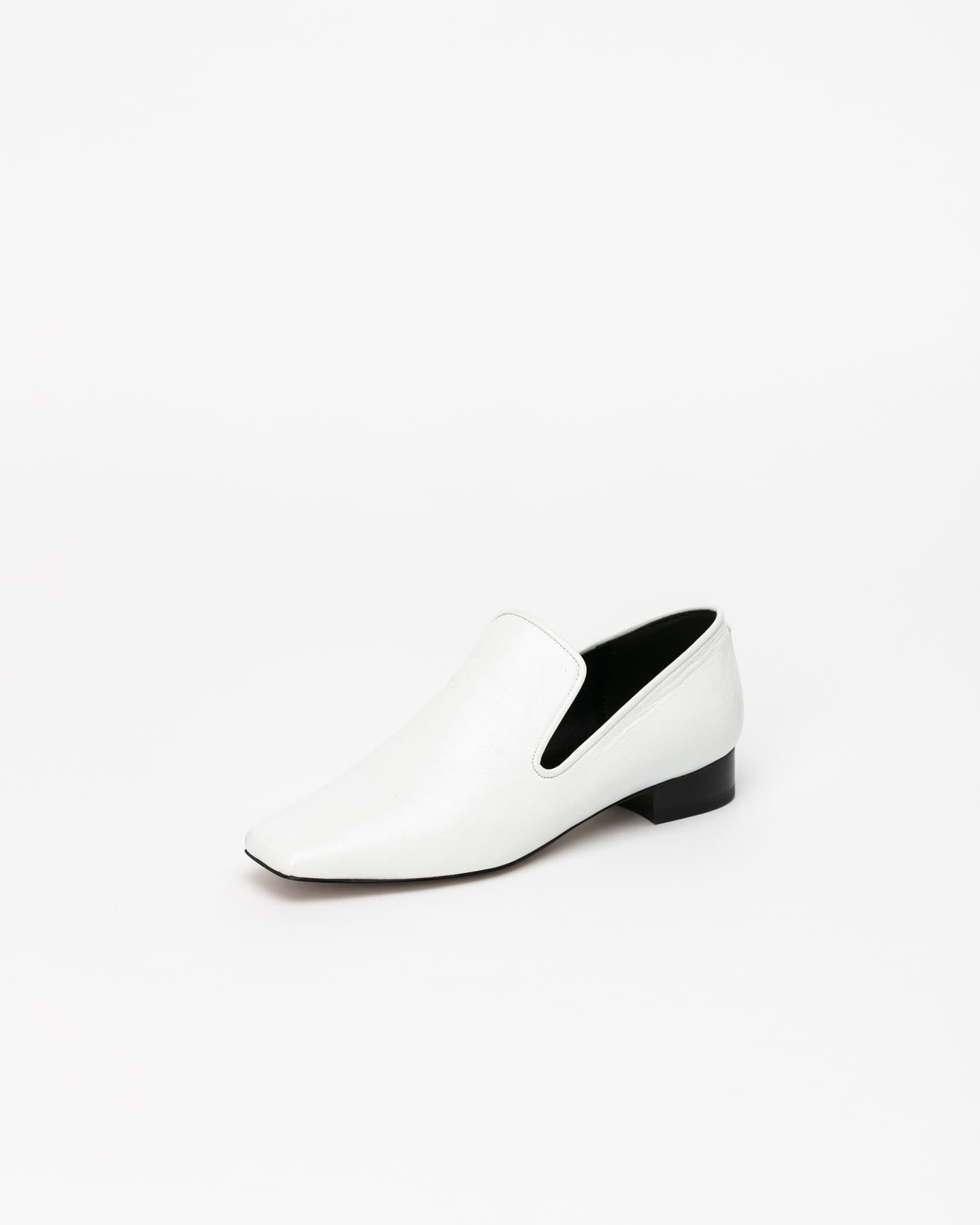 Abel Slip-on Loafers in Textured White