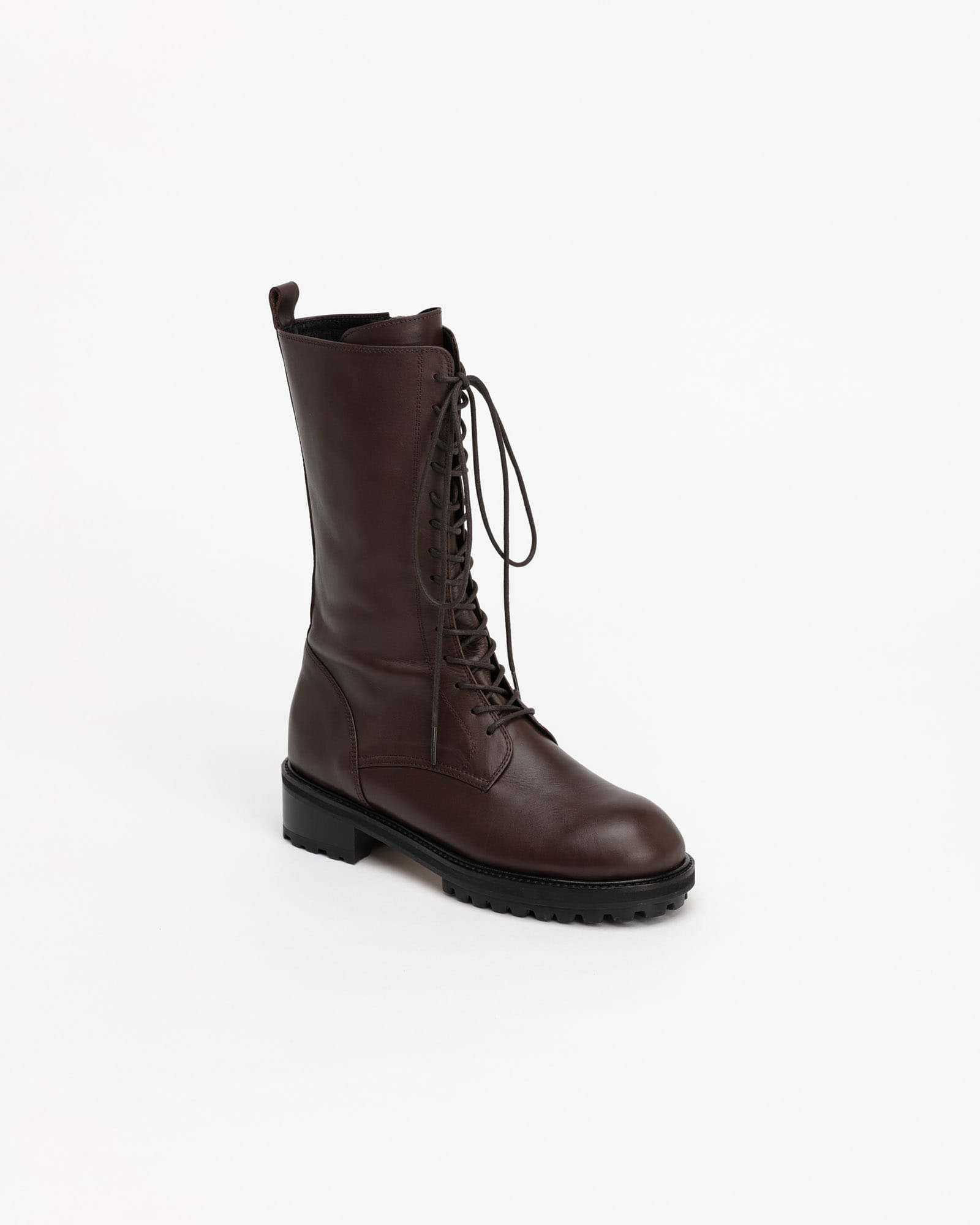 Gotham Combat Boots in Roast Brown