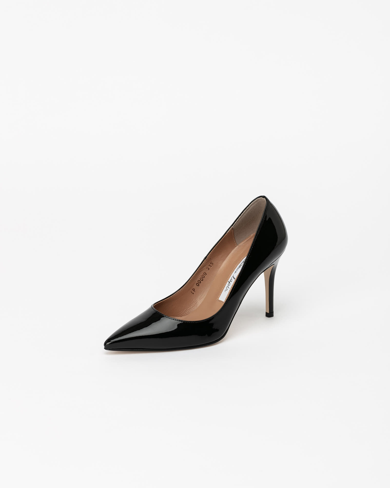 Parlor Stiletto Pumps in Black Patent