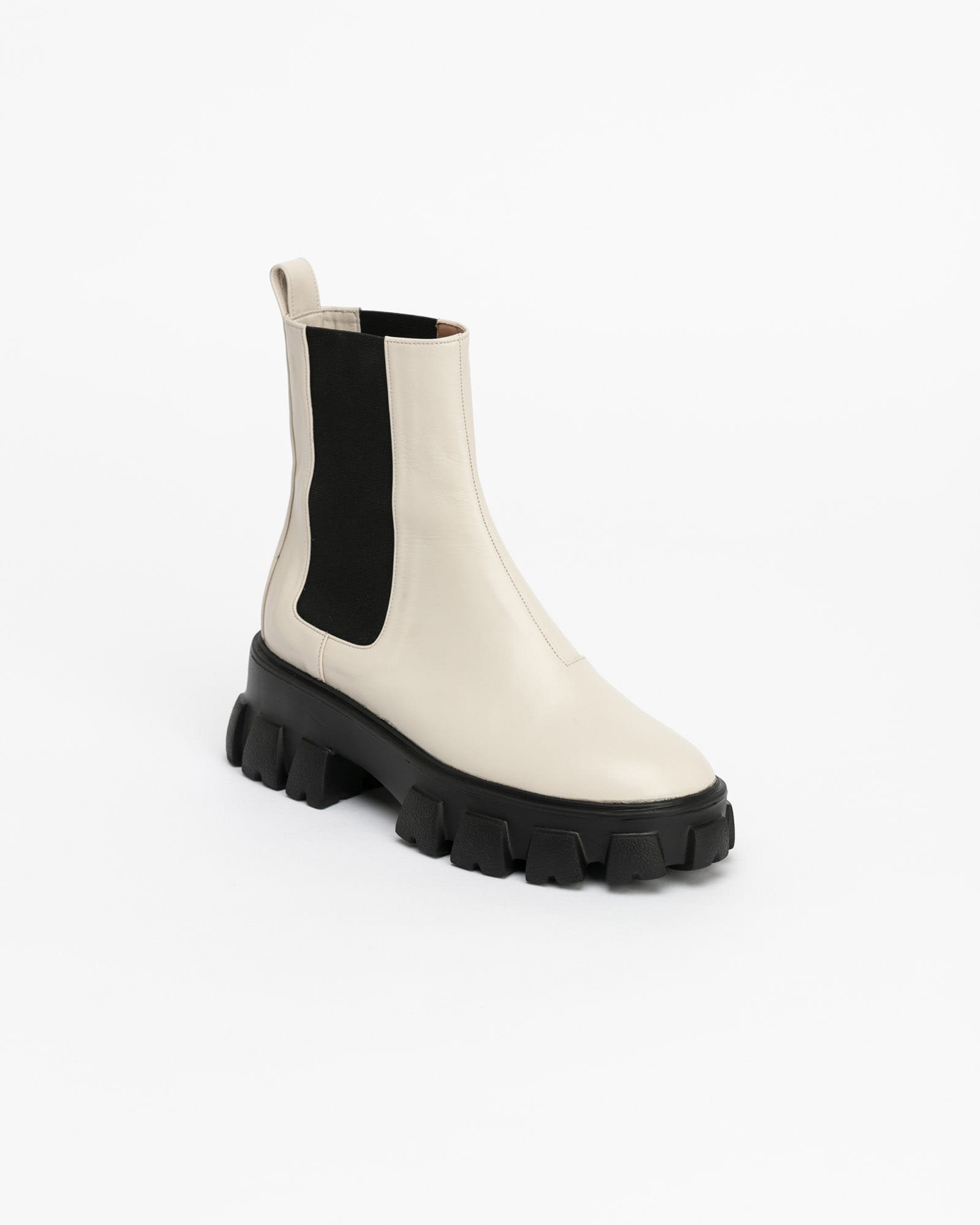 Legera Lug-sole Chelsea Boots in Ivory