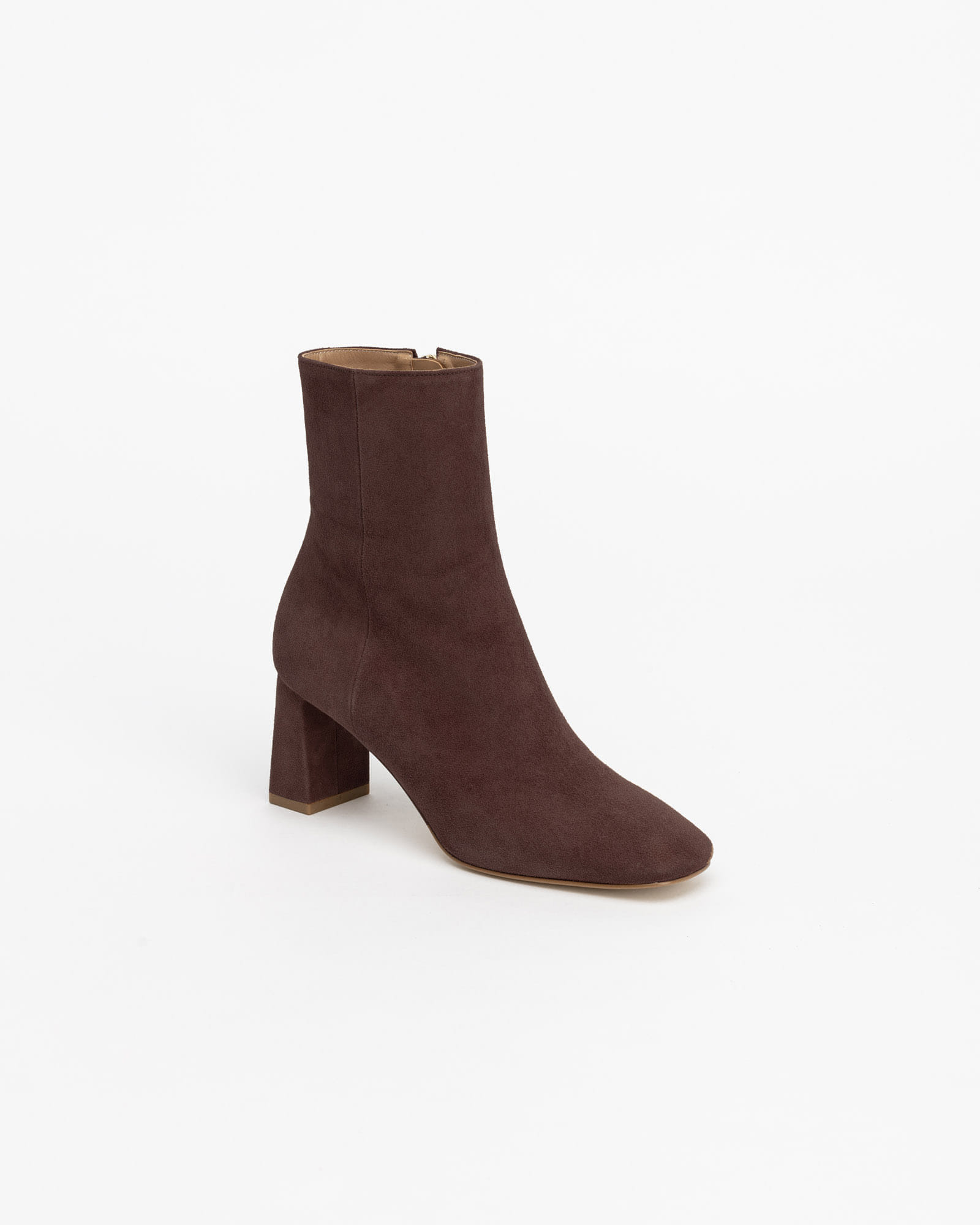 Railer Boots in Dark Brown Suede