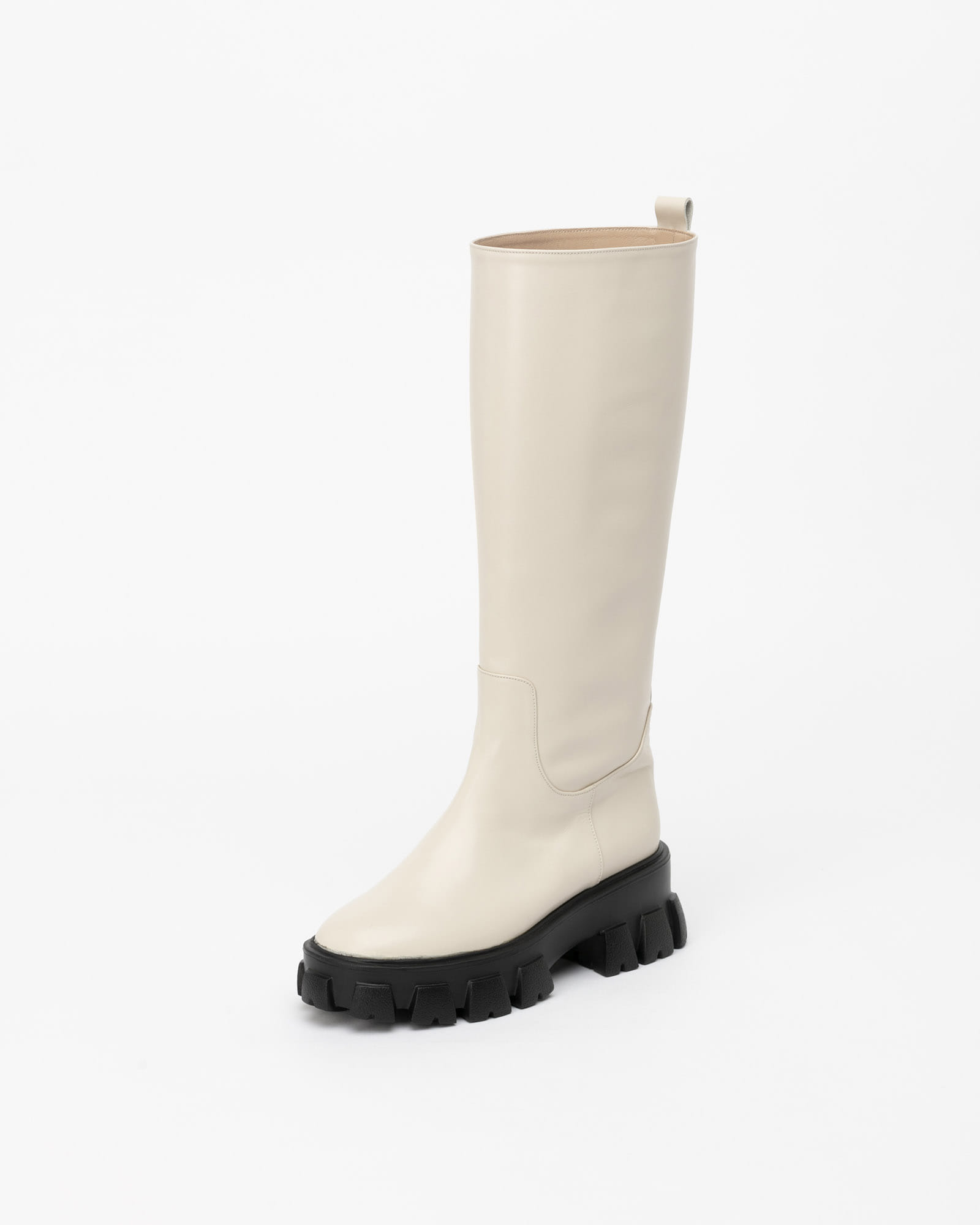 Dilon Lug-sole Boots in Ivory