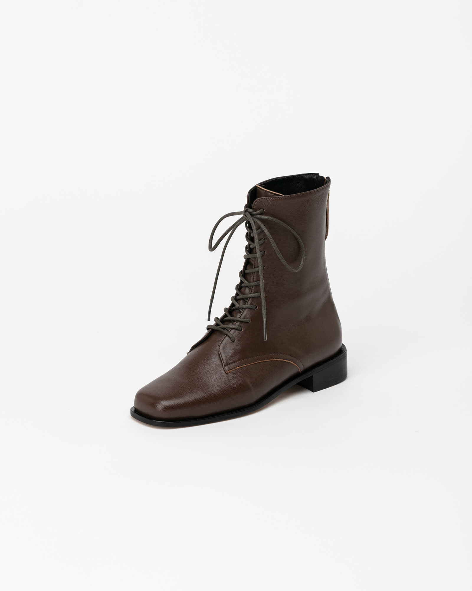 Witan Lace-up Combat Boots in Brown