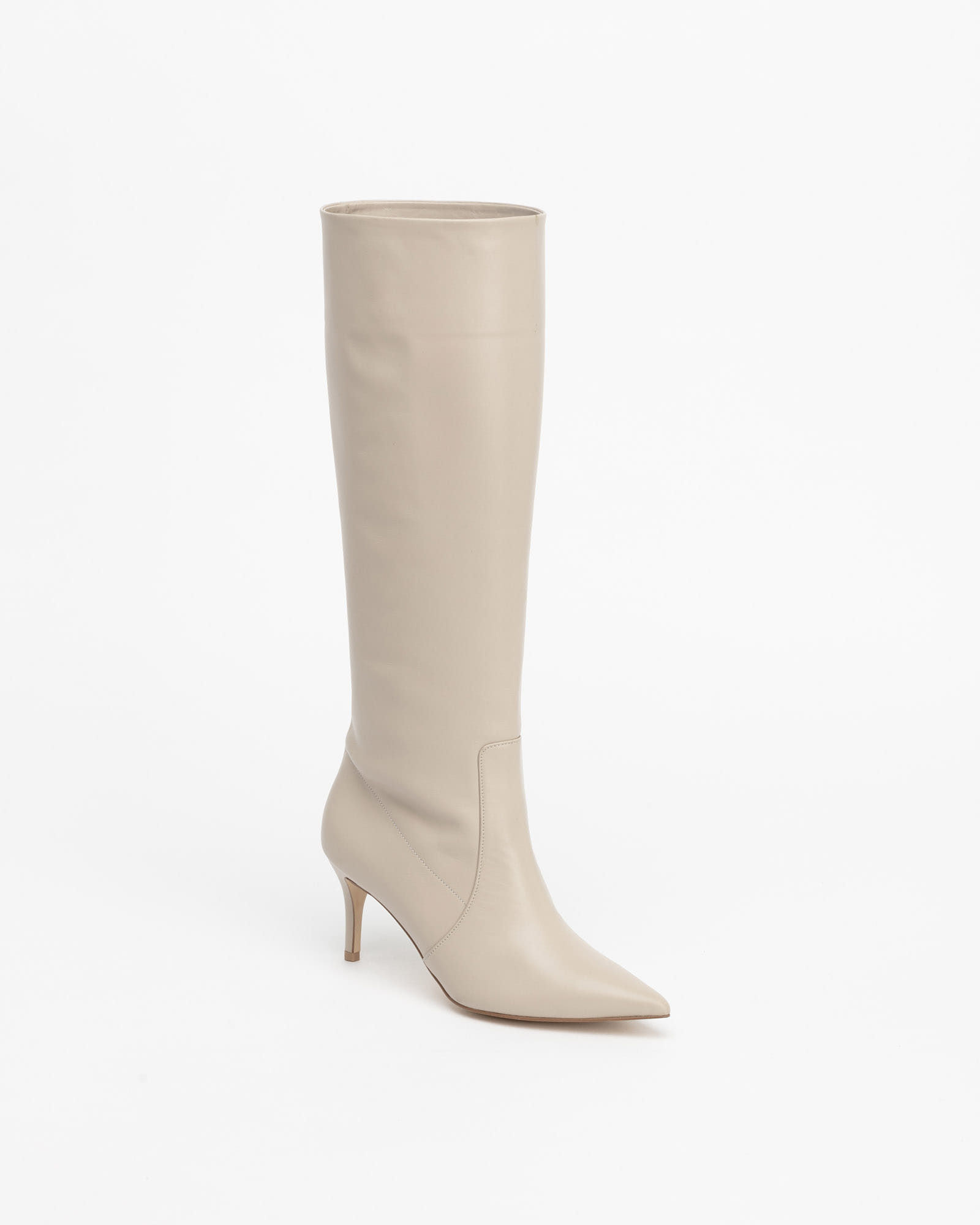 Chaffin Soft Shaft Boots in Taupe Ivory