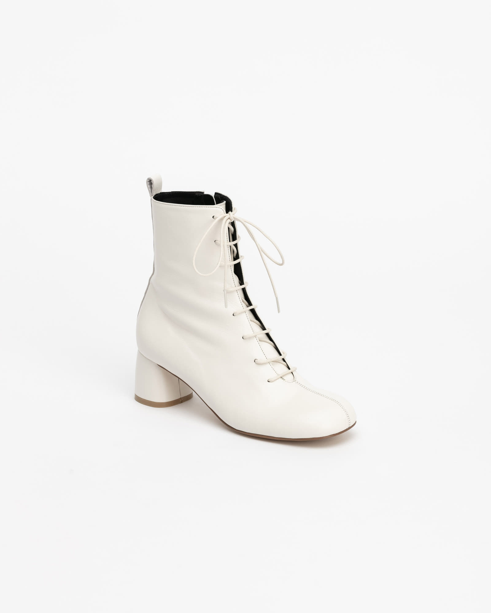 Proton Lace-up Boots in Pure White
