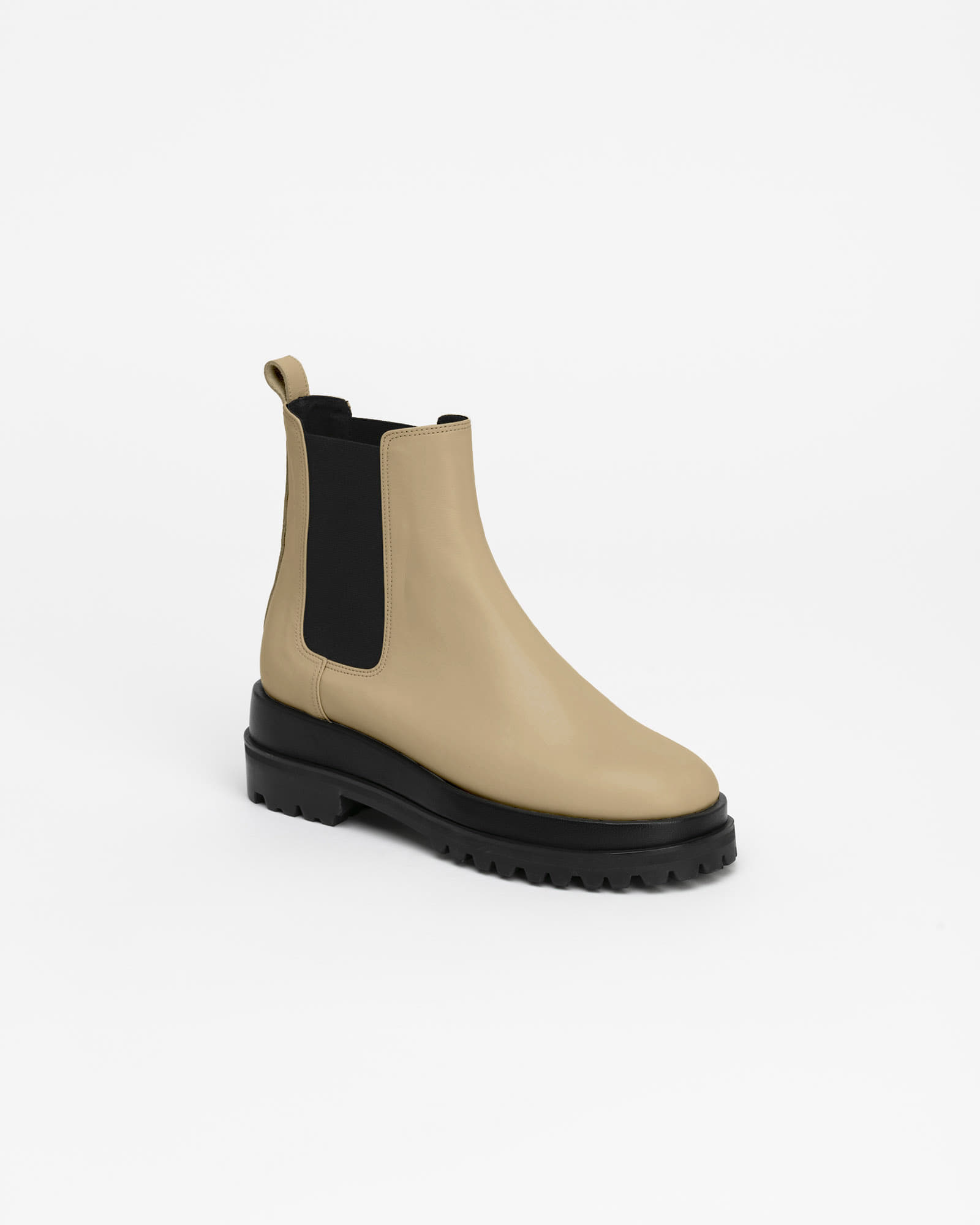 Ballon Double Sole Chelsea Boots in Beige