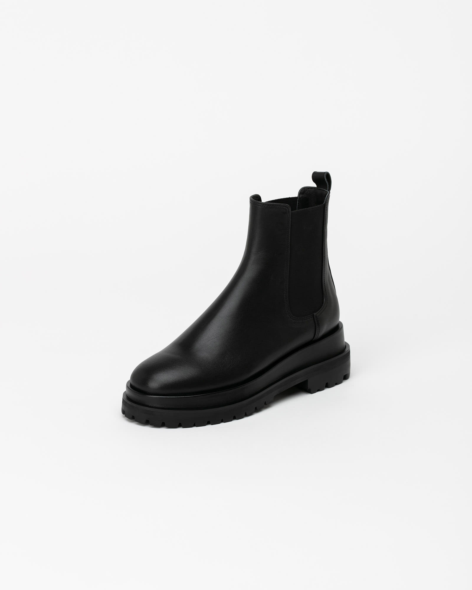 Ballon Double Sole Chelsea Boots in Black