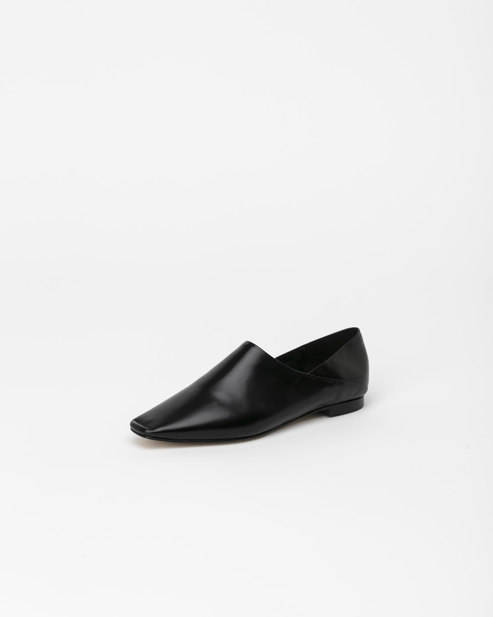 Vessel Flat Shoes in Textured Black
