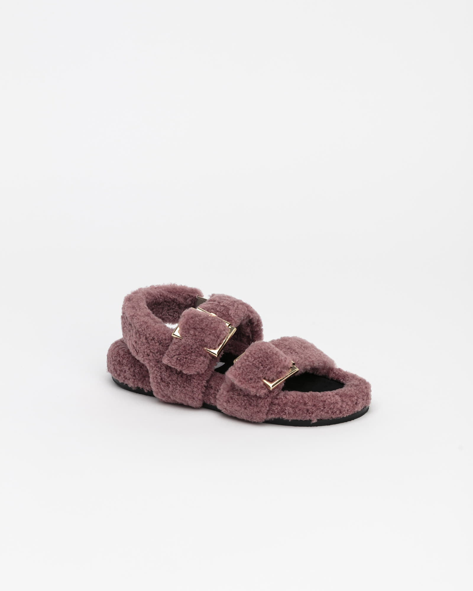 Freyan Footbed Sandals in Pink Fur
