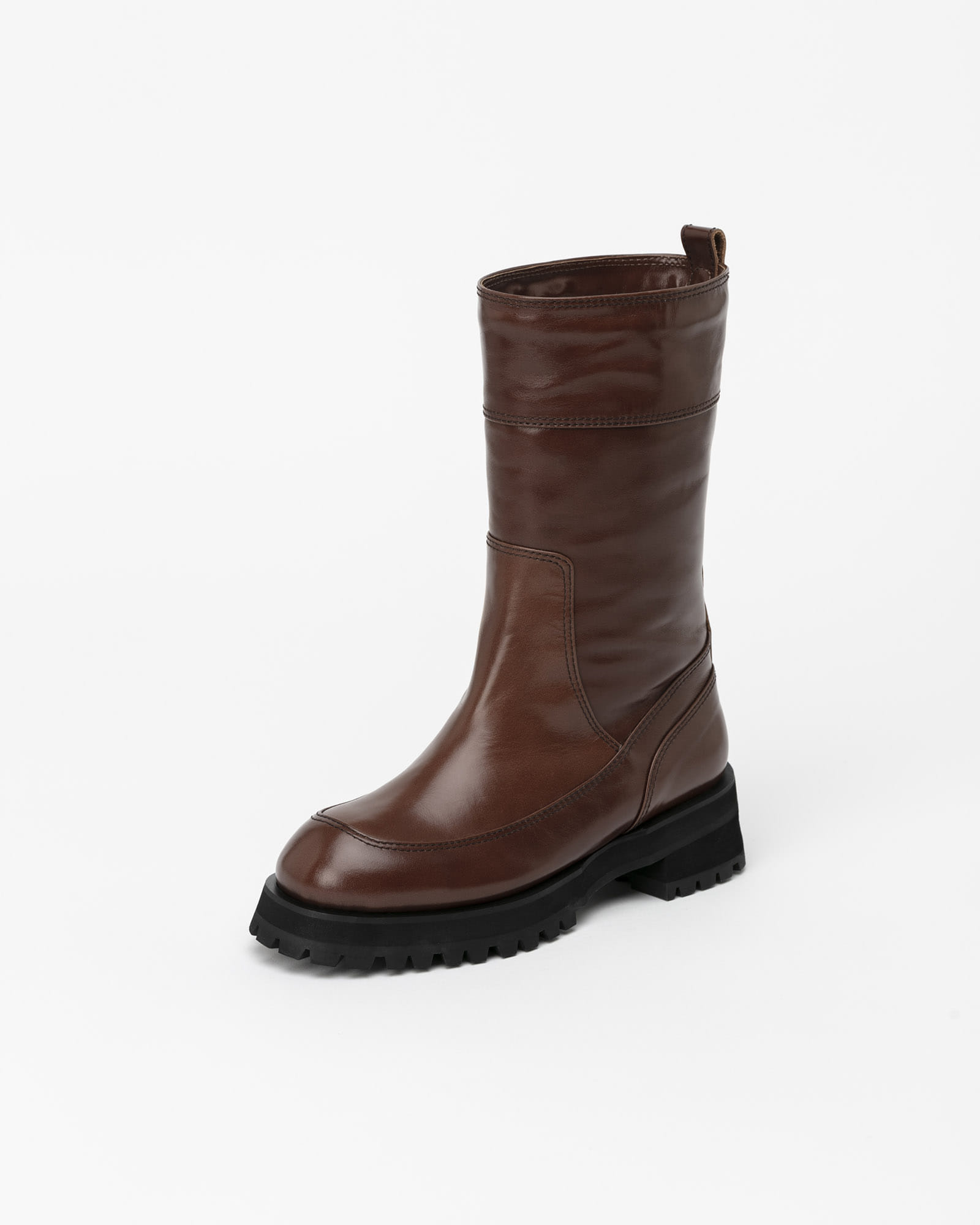 Brica Fur Lining Boots in Textured Brown