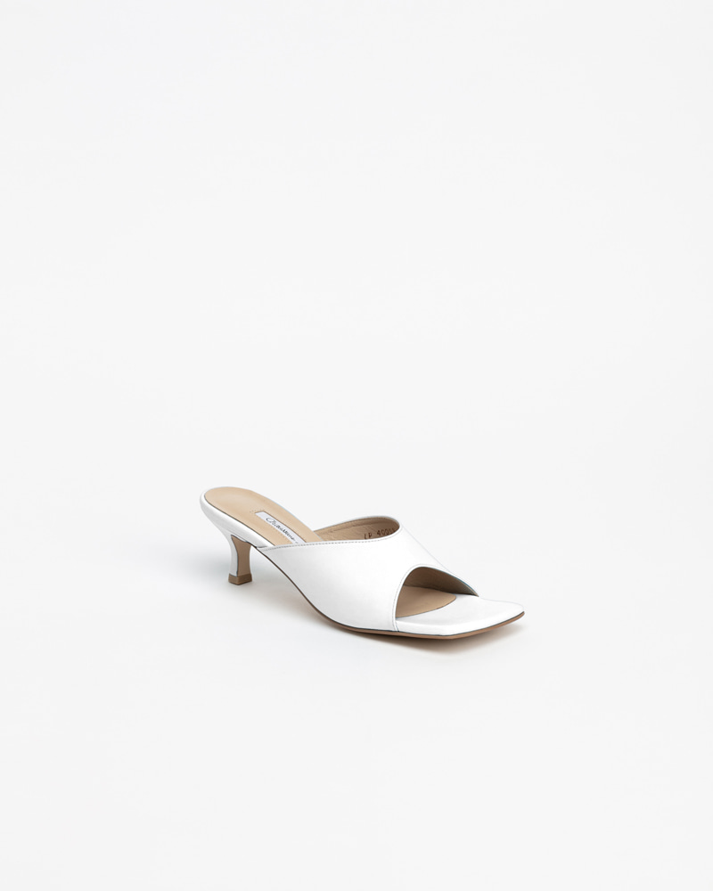 Zoey Mules in Pure White