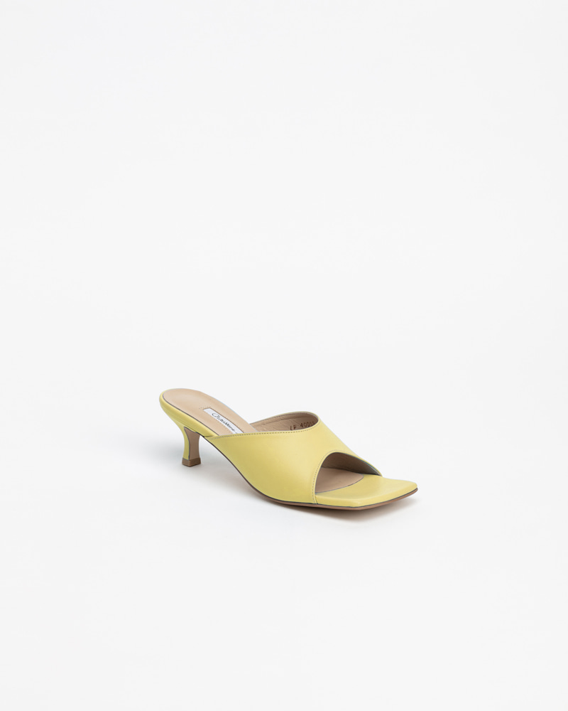 Zoey Mules in  LineLight Yellow