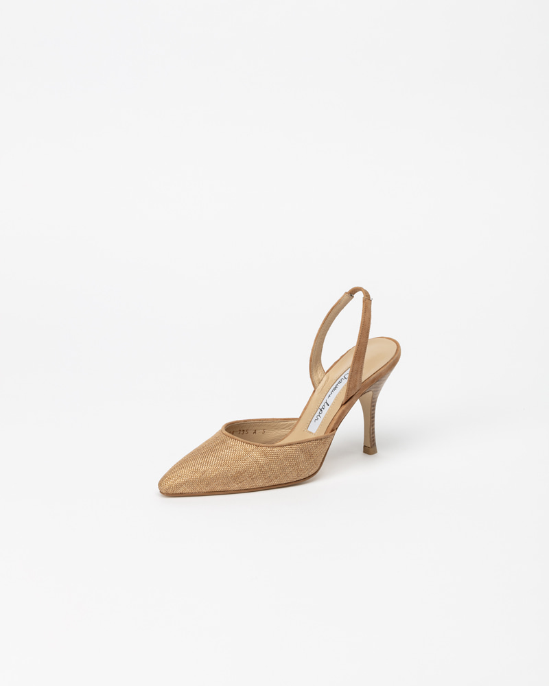 Plaine Straw Slingbacks in Natural
