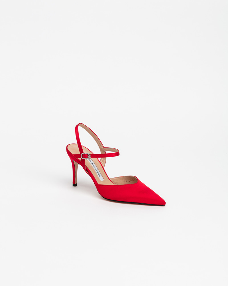 March Strap Pumps in Shine Red
