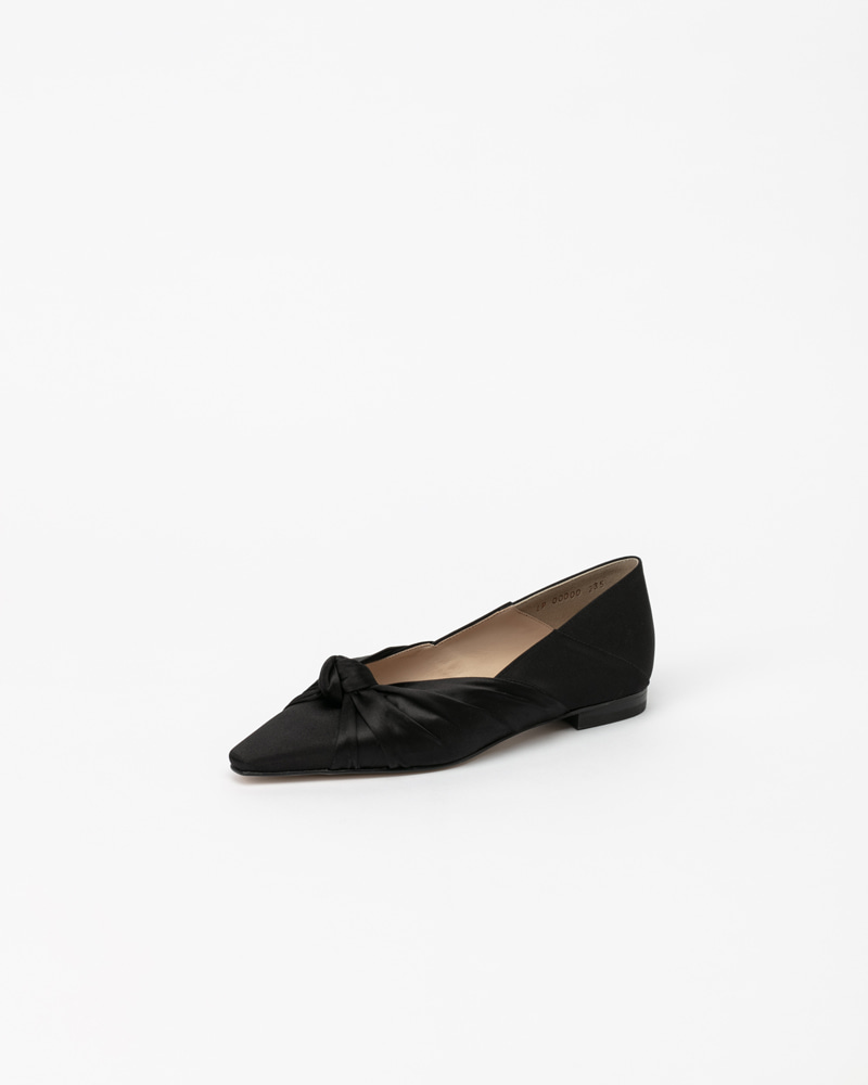 Finesse Flat Babouche in Black Silk