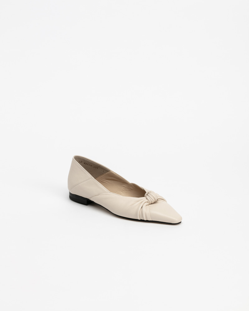 Finesse Flat Babouche in Ivory