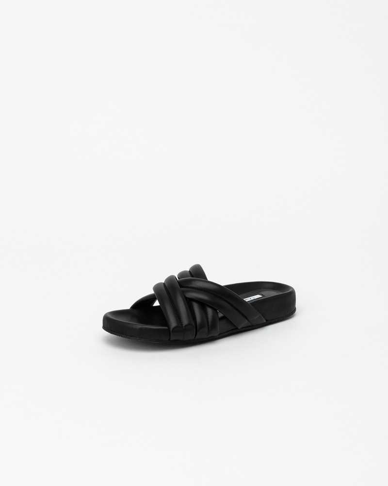 Pierné Footbed Slides in Black