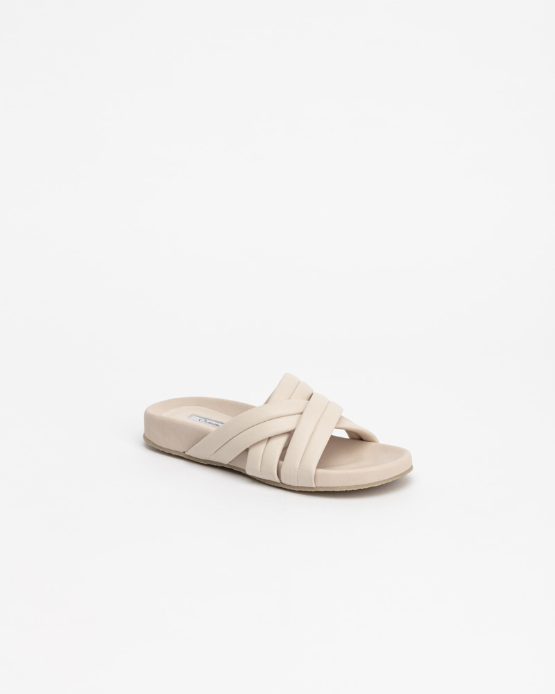 Pierné Footbed Slides in Ivory