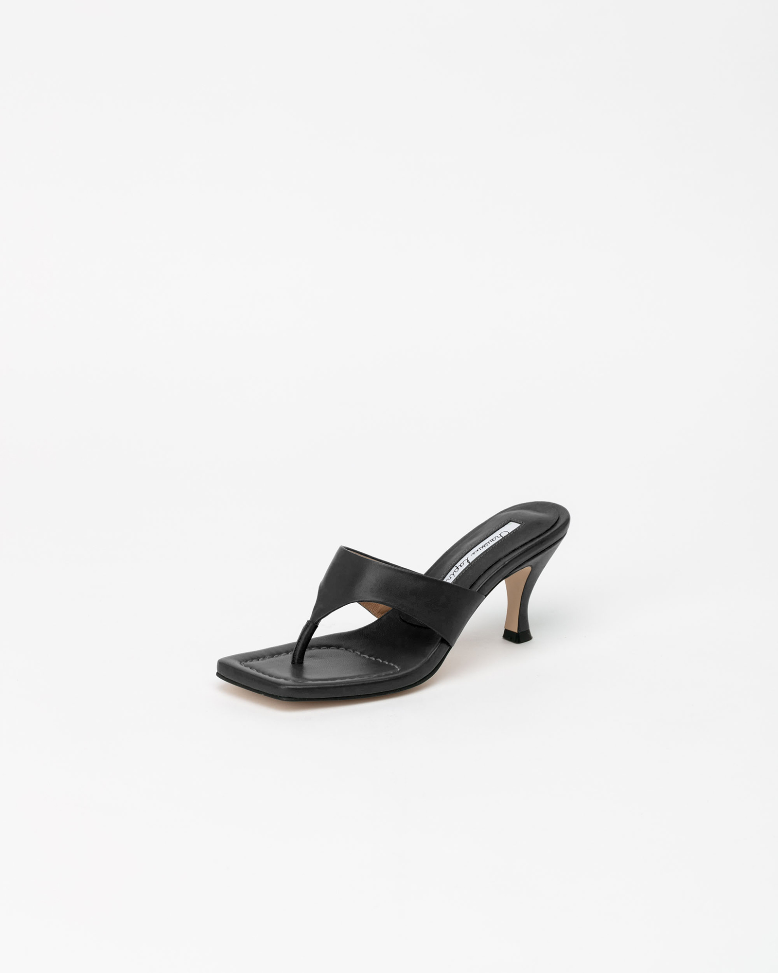 Maggy Thong Mules in Black