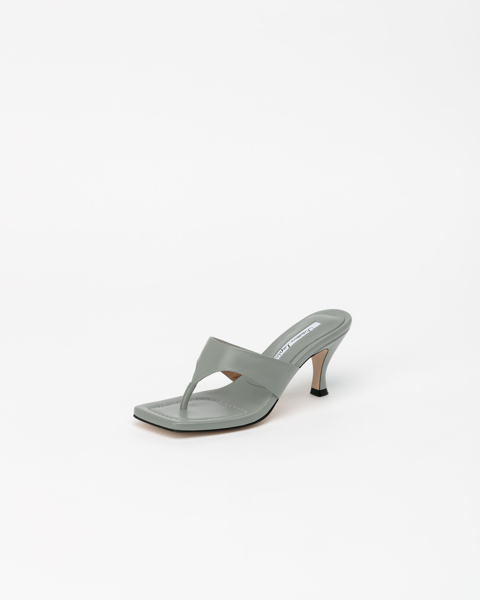 Maggy Thong Mules in Mineral Gray