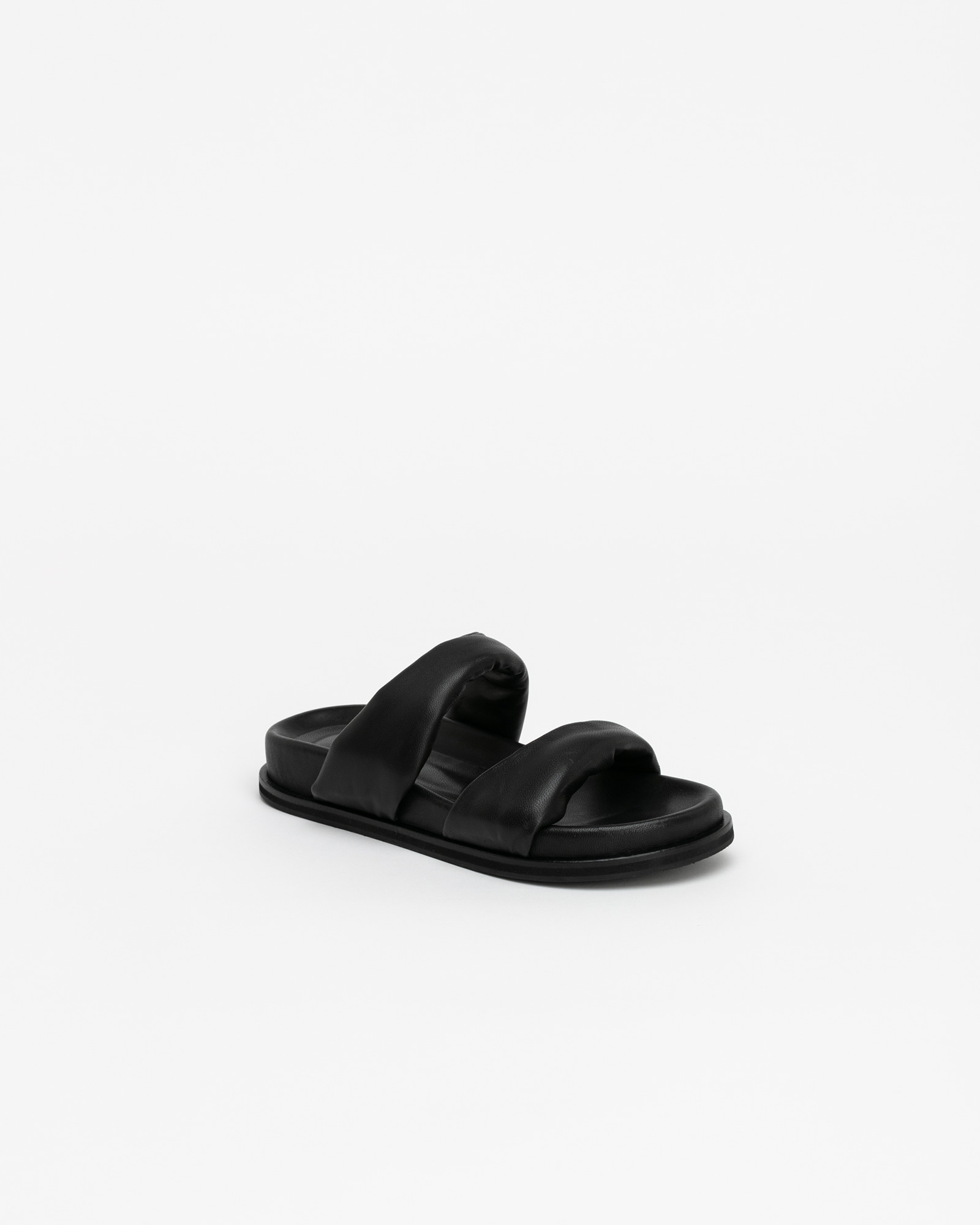 Ceylon Soft Footbed Slides in Black
