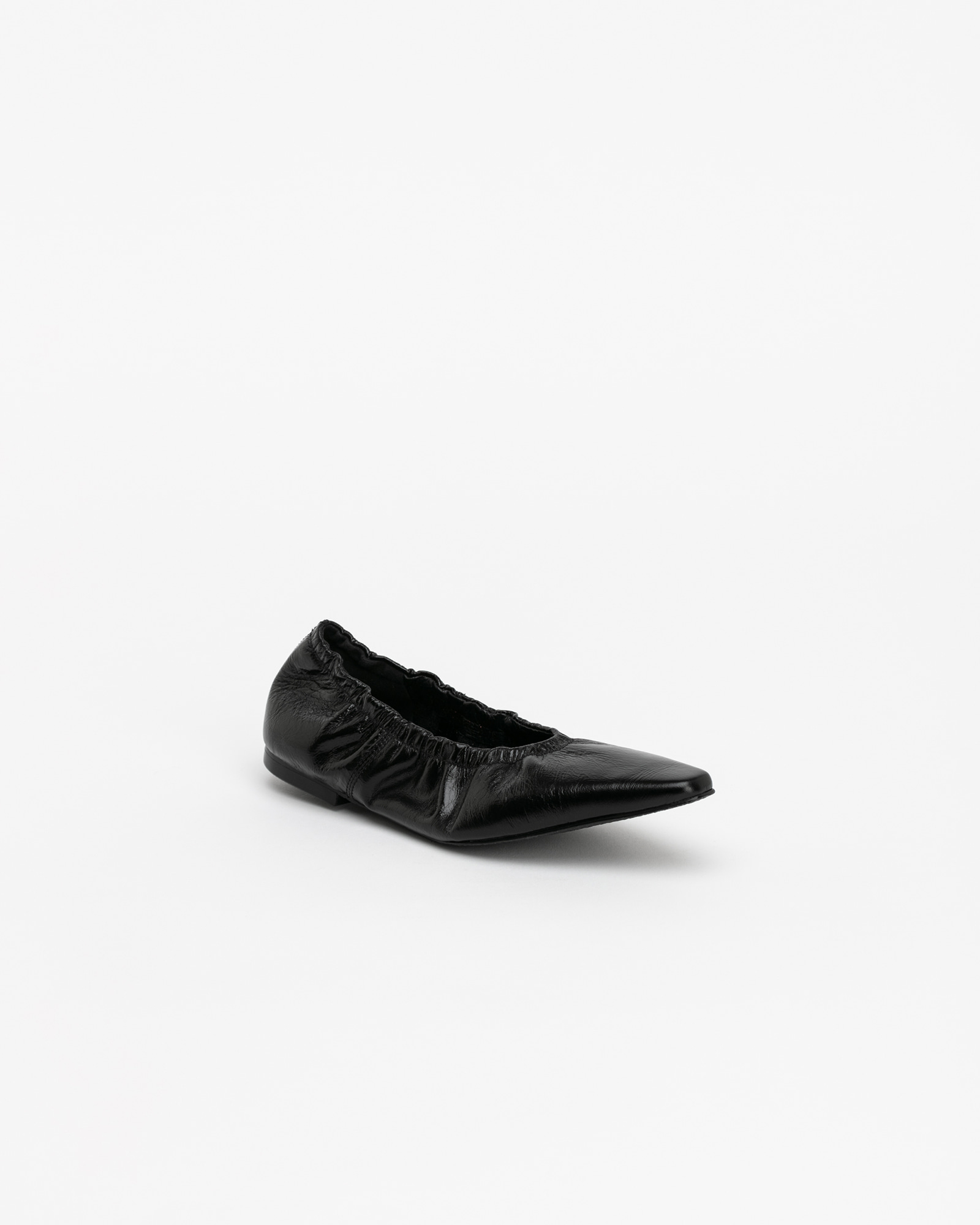 Arnaud Soft Flat Shoes in Wrinkled Black