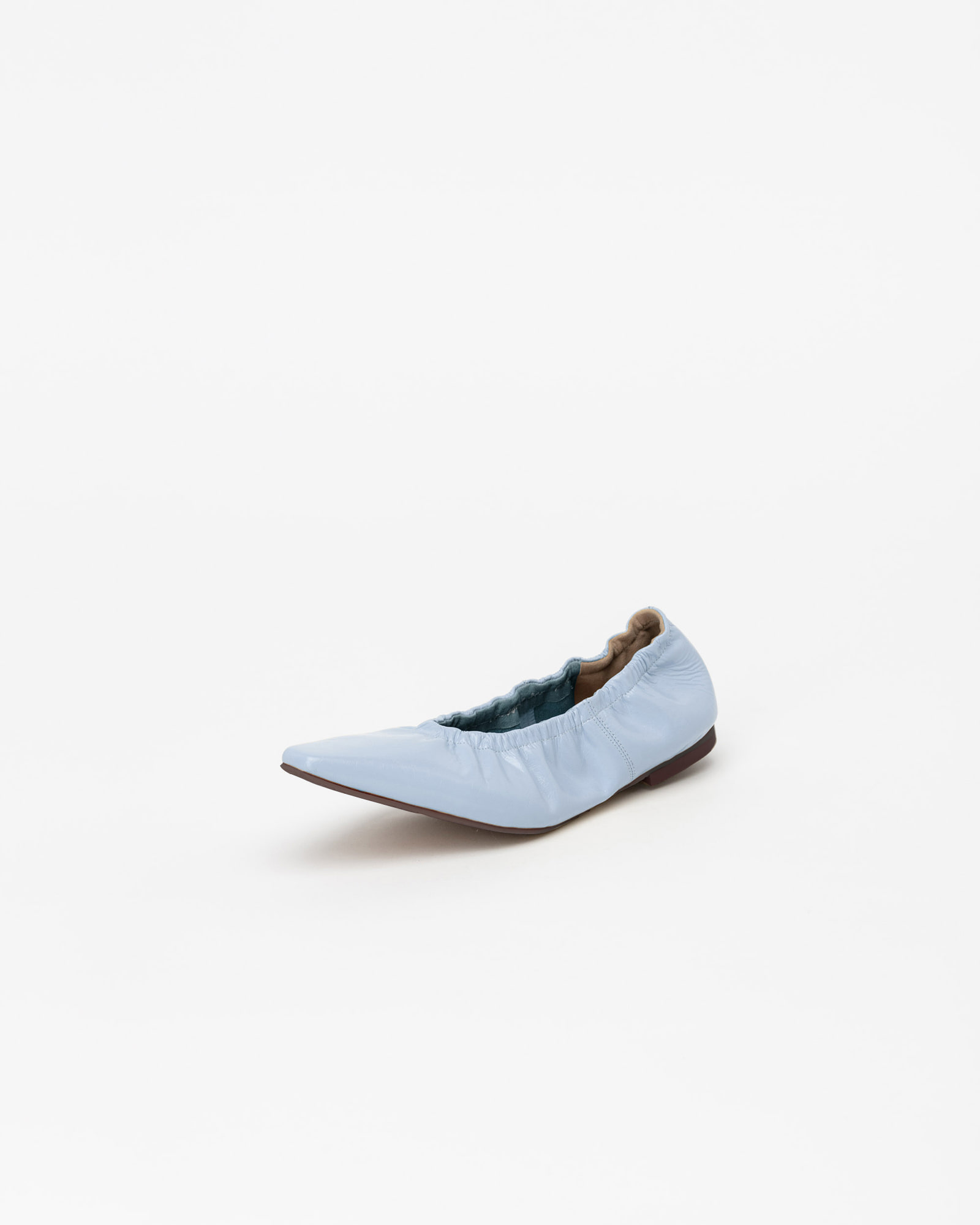 Arnaud Soft Flat Shoes in Wrinkled Sky Blue