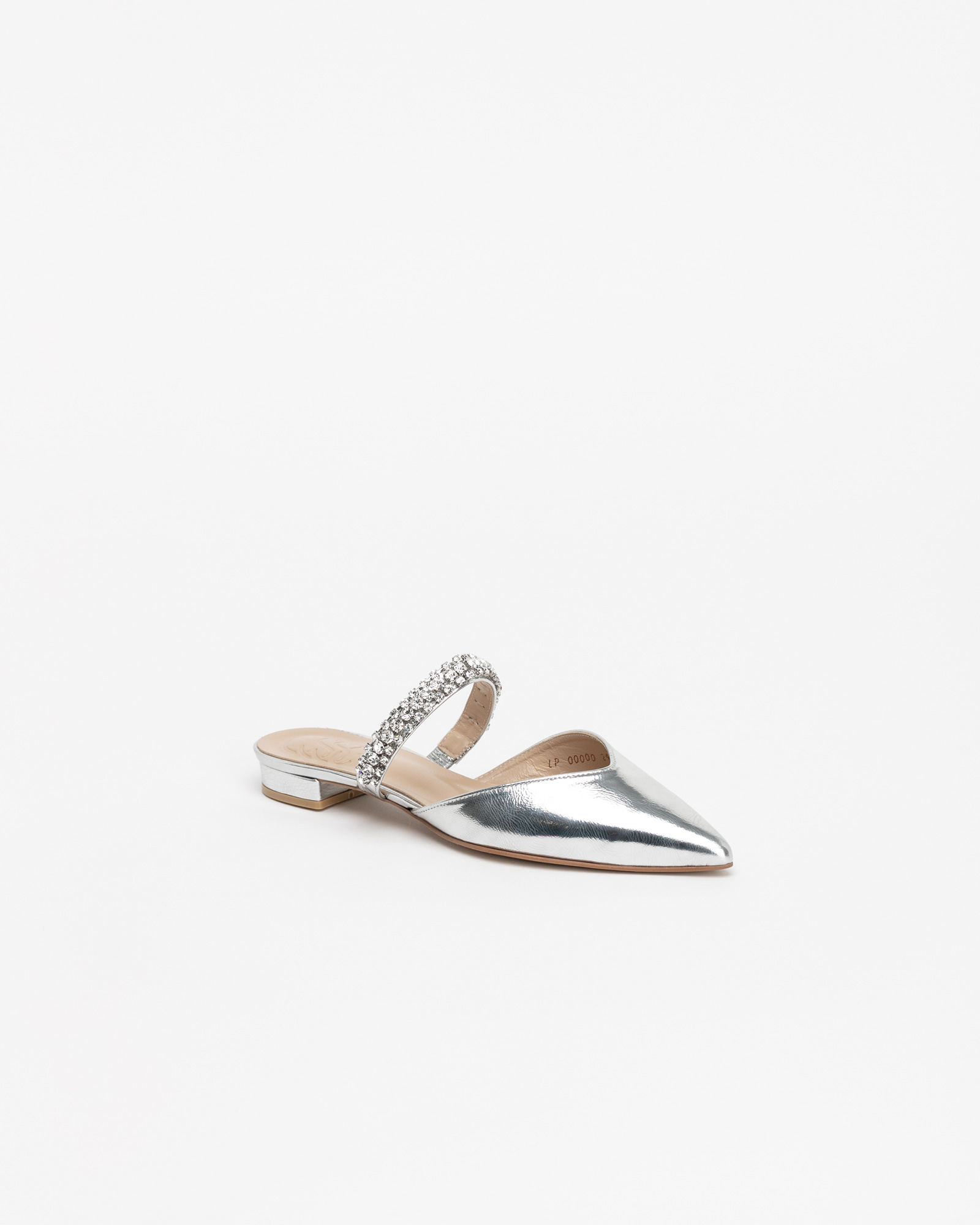 Patio Jeweled Slides in Textured Silver