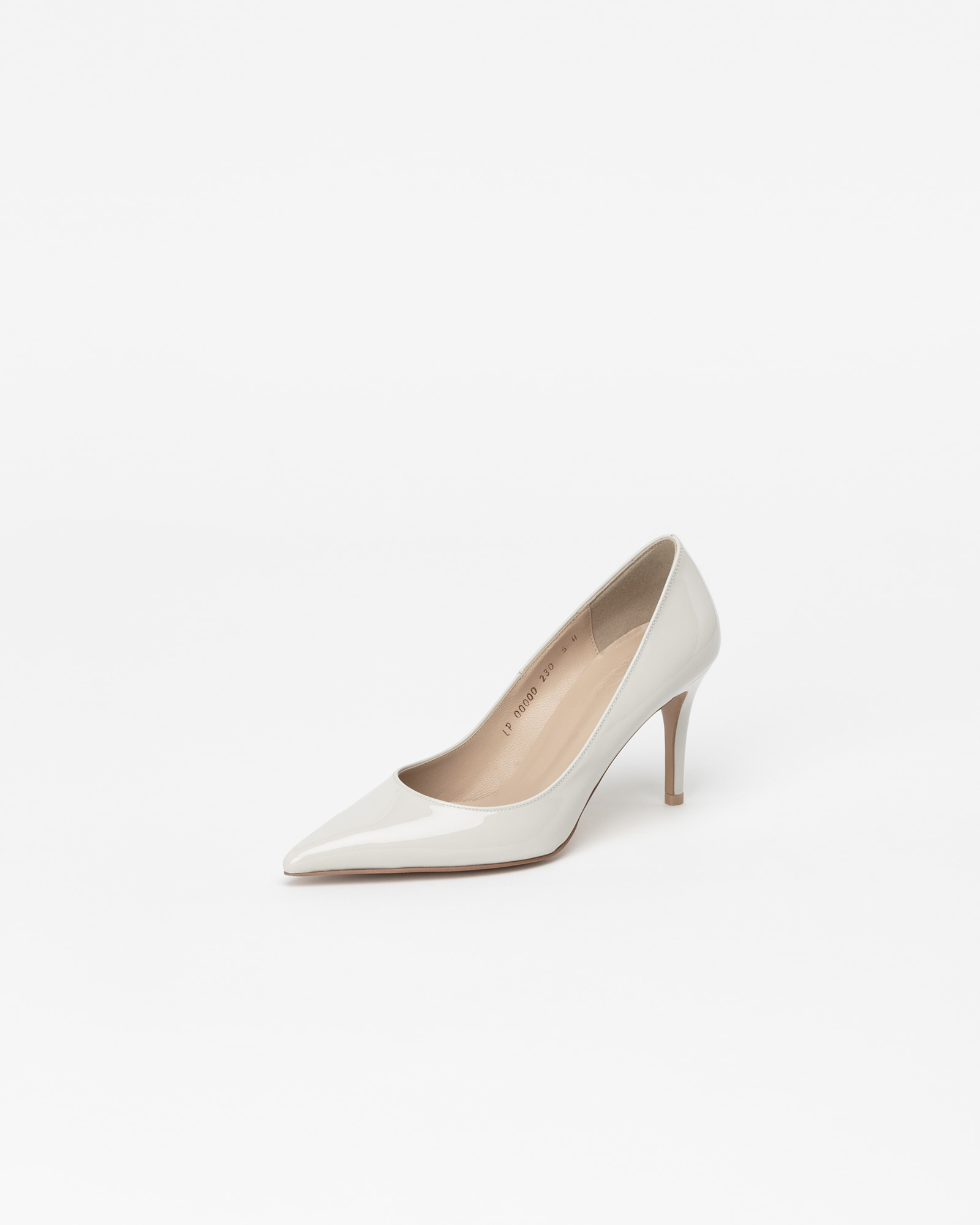 Chauffeur Stiletto Pumps in Ice Gray Patent