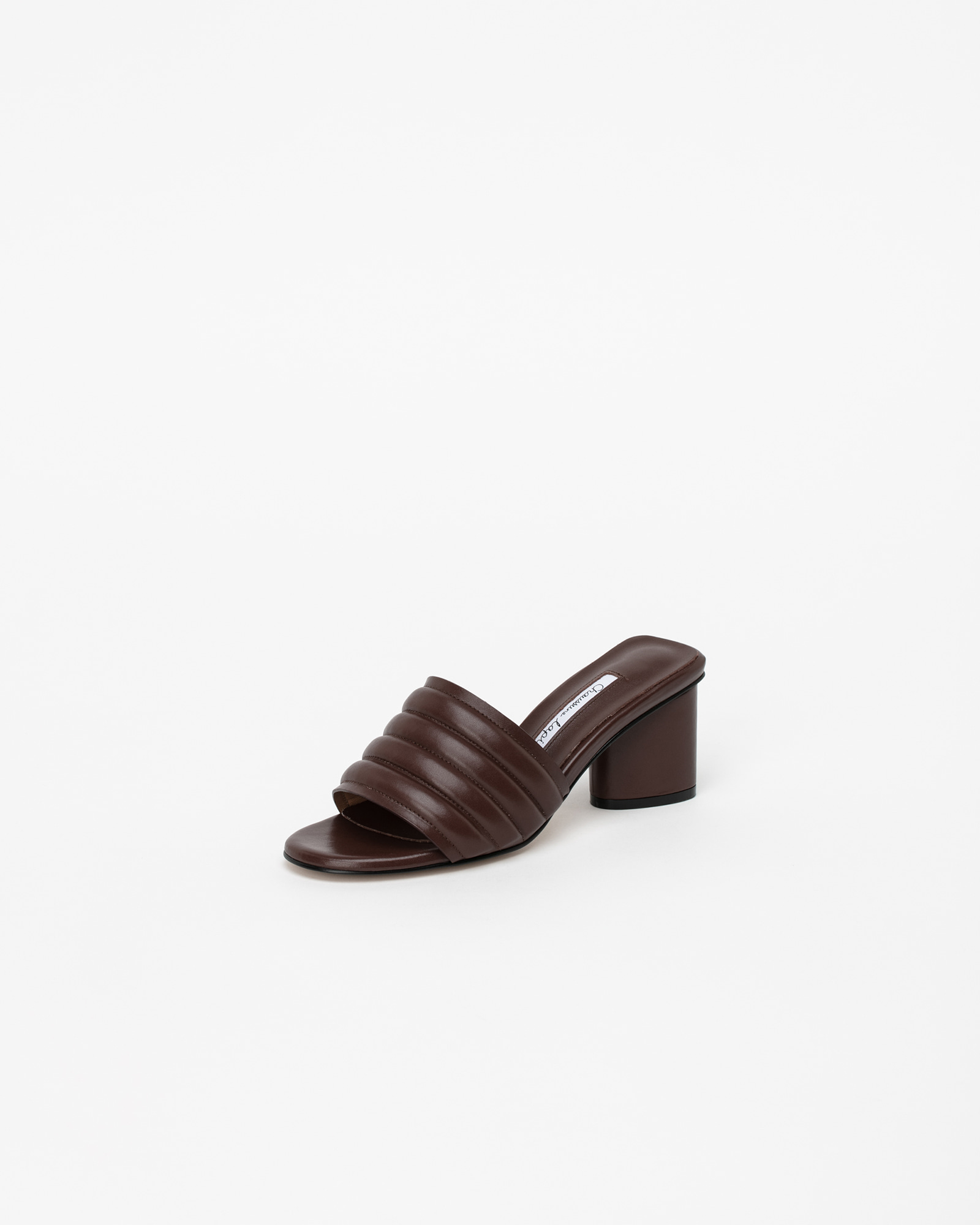 Alia Padded Mules in Iron Brown