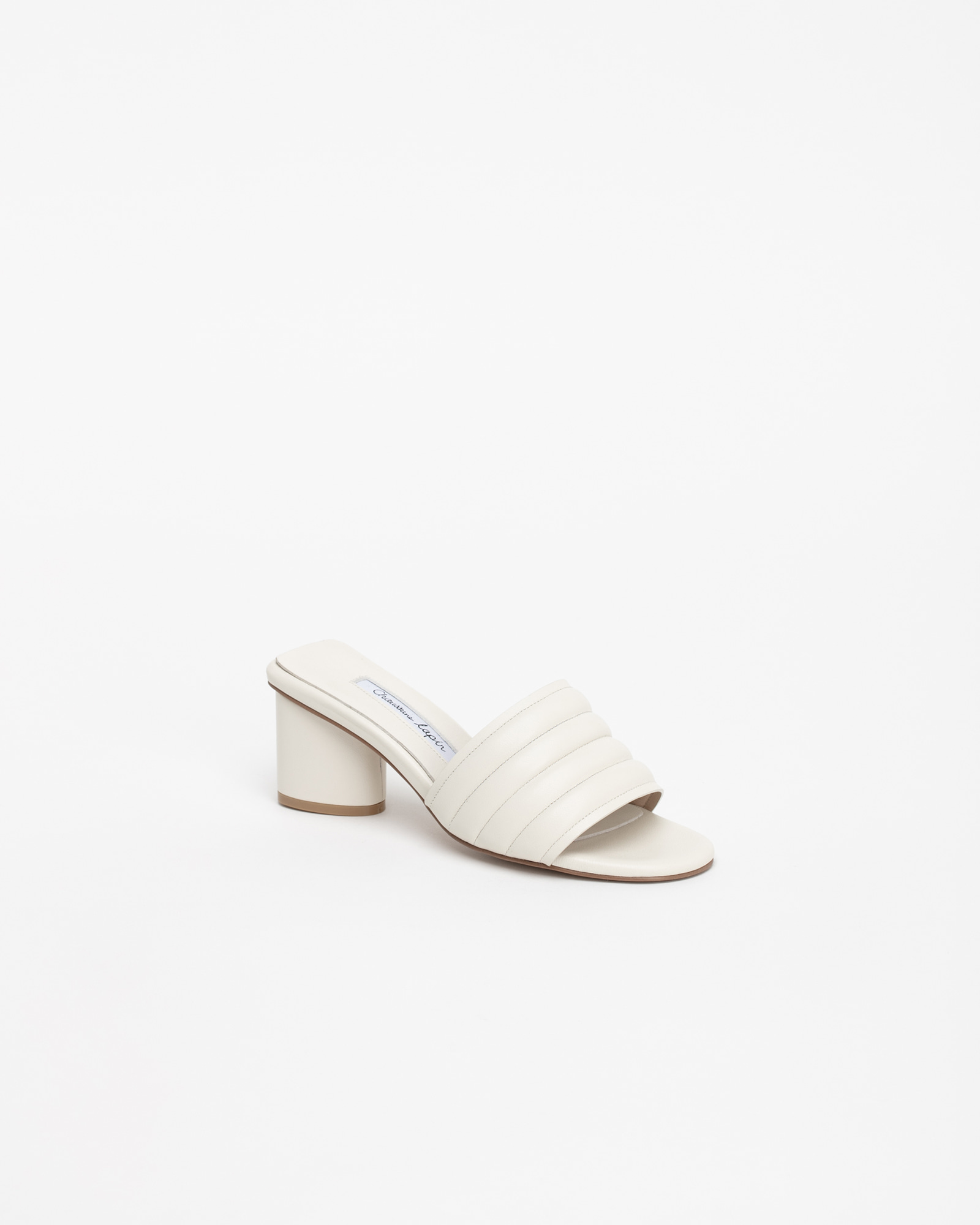 Alia Padded Mules in Ivory