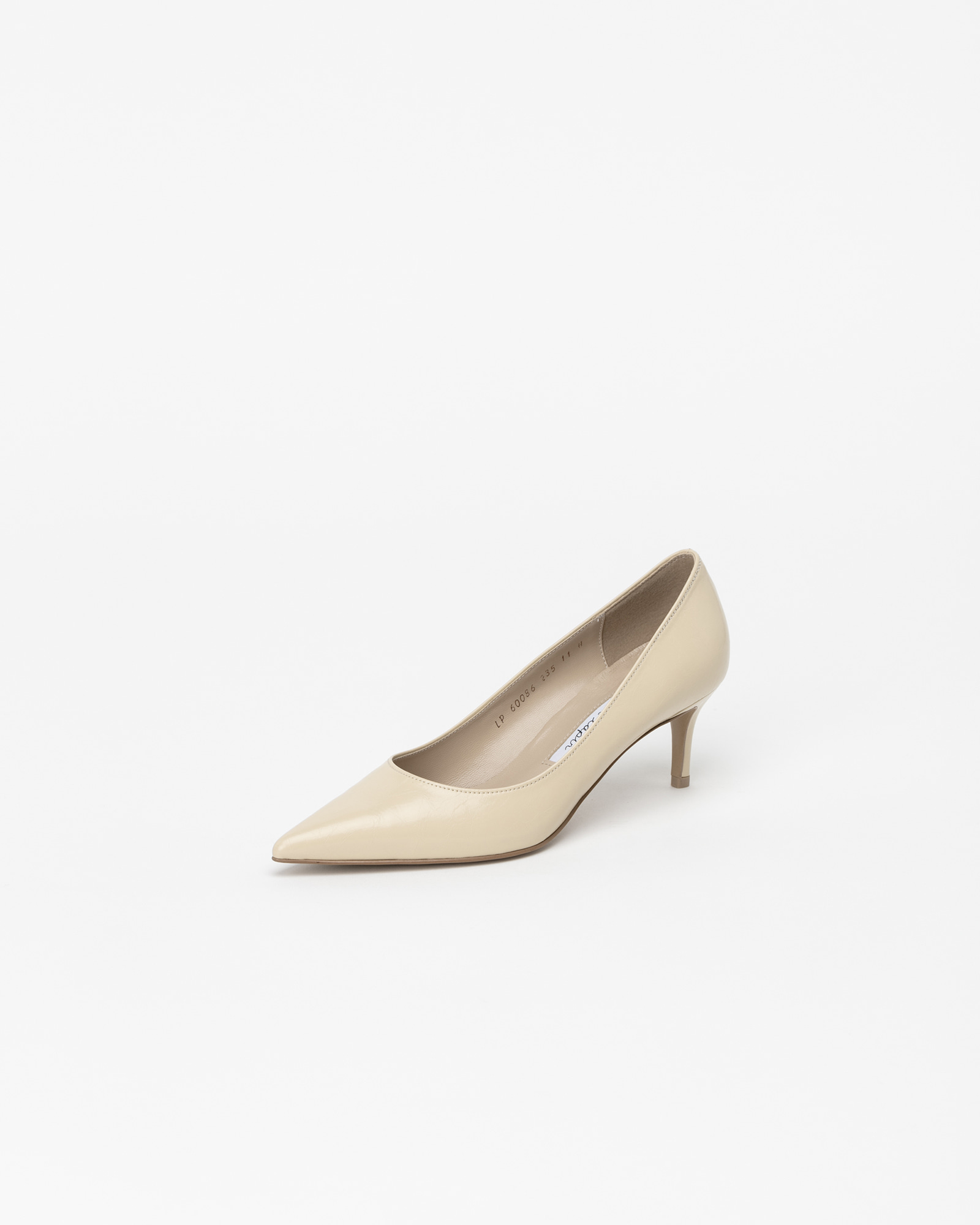 Chauffeur Stiletto Pumps in Wrinkled Light Yellow