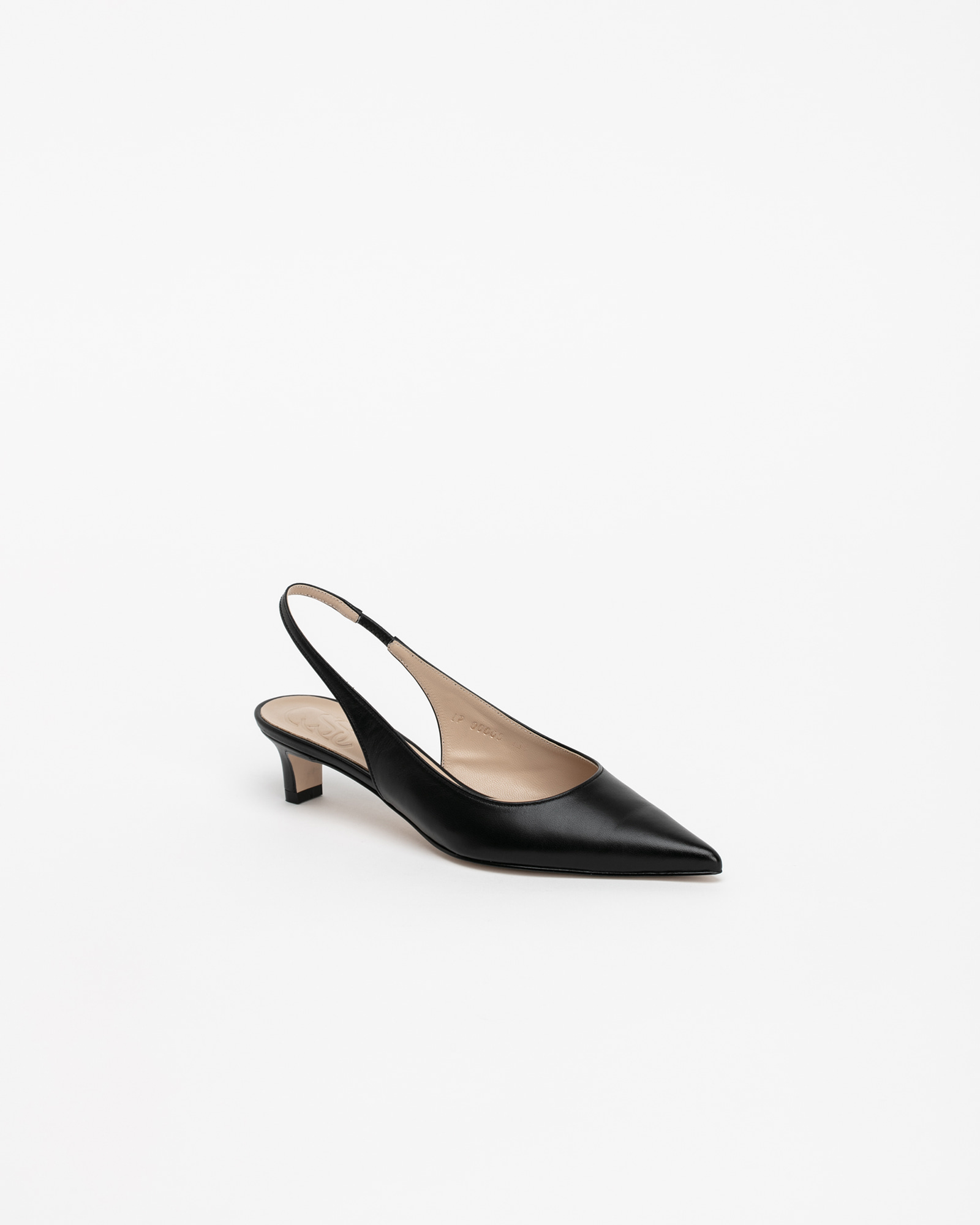 Philo Nouvelle Slingbacks in Black