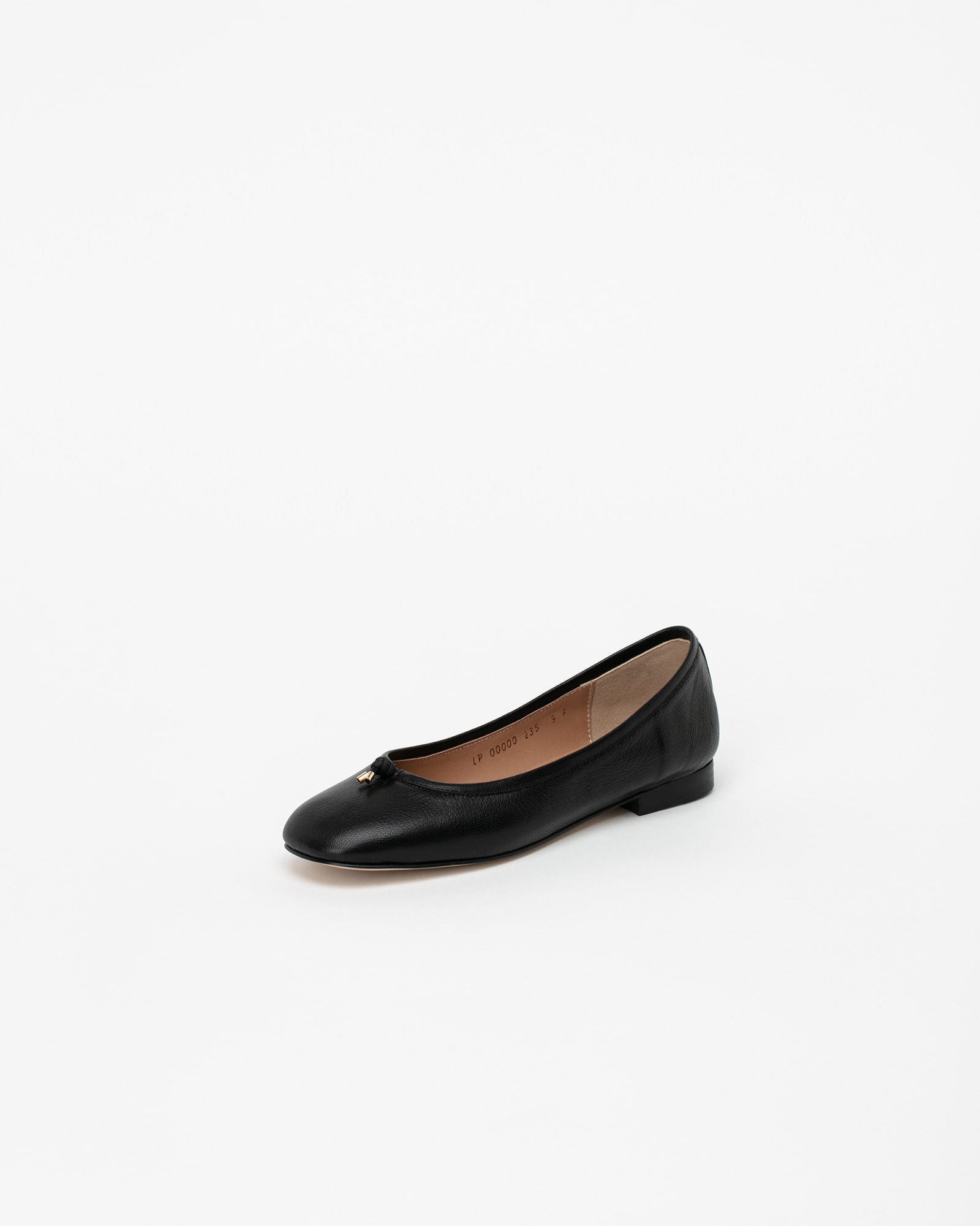 Meringue Soft Flat Shoes in Black