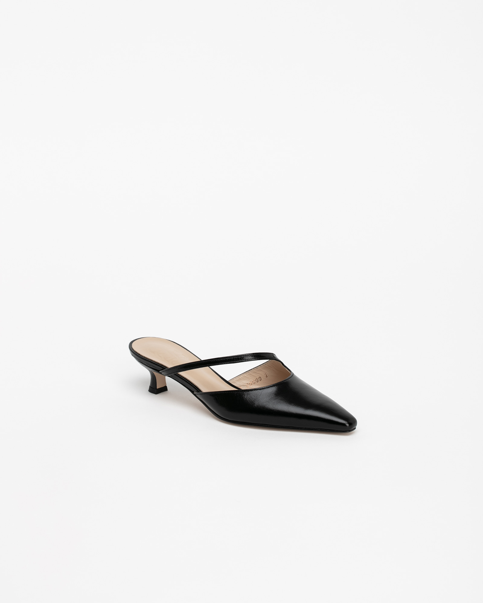 Serenade Mules in Textured Black