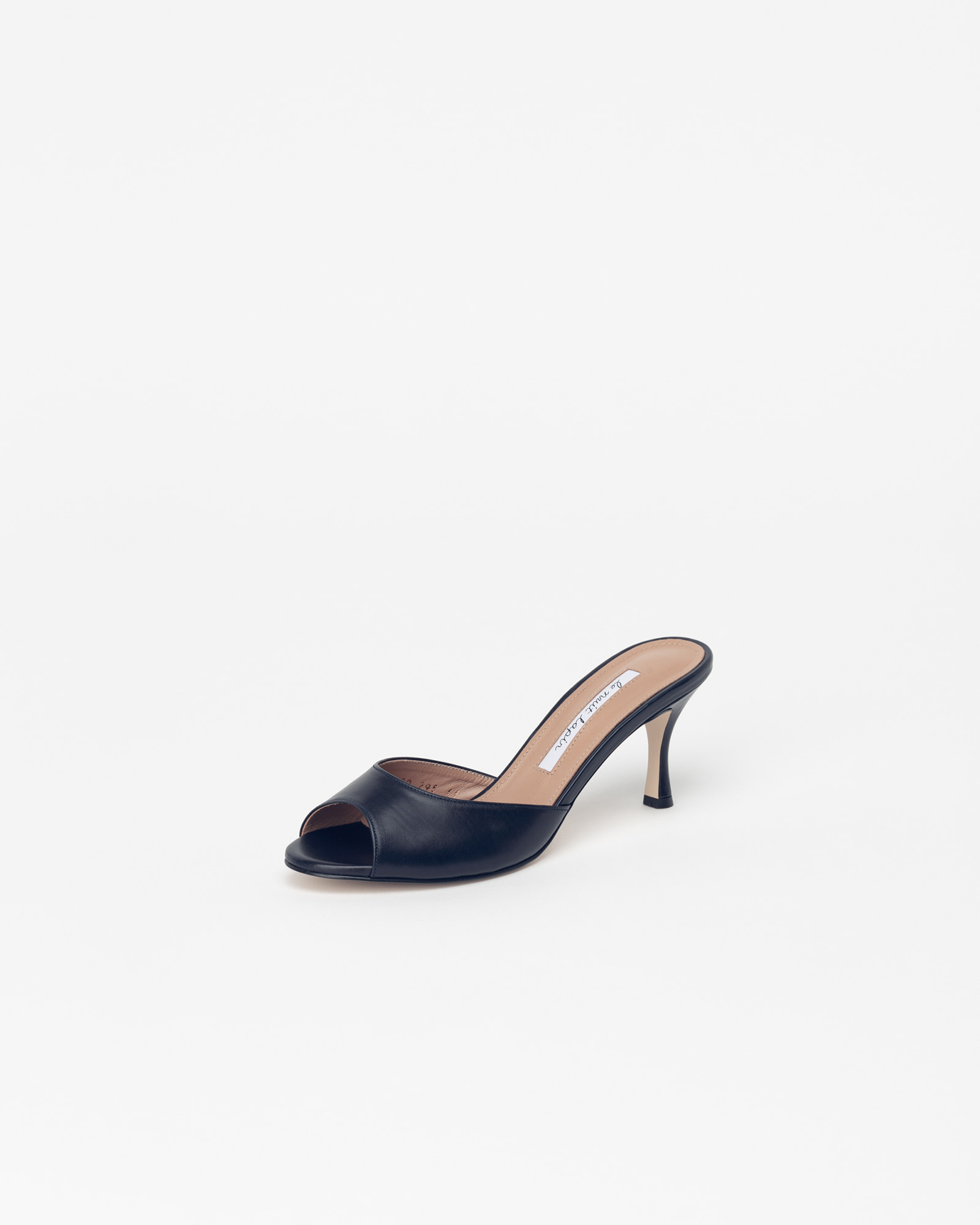 Chartres Mules in Navy Baby Calf