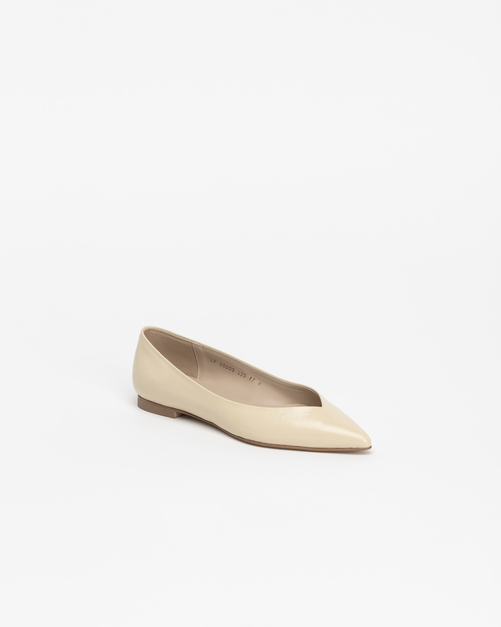 Preta Flat Shoes in Wrinkled Light Yellow