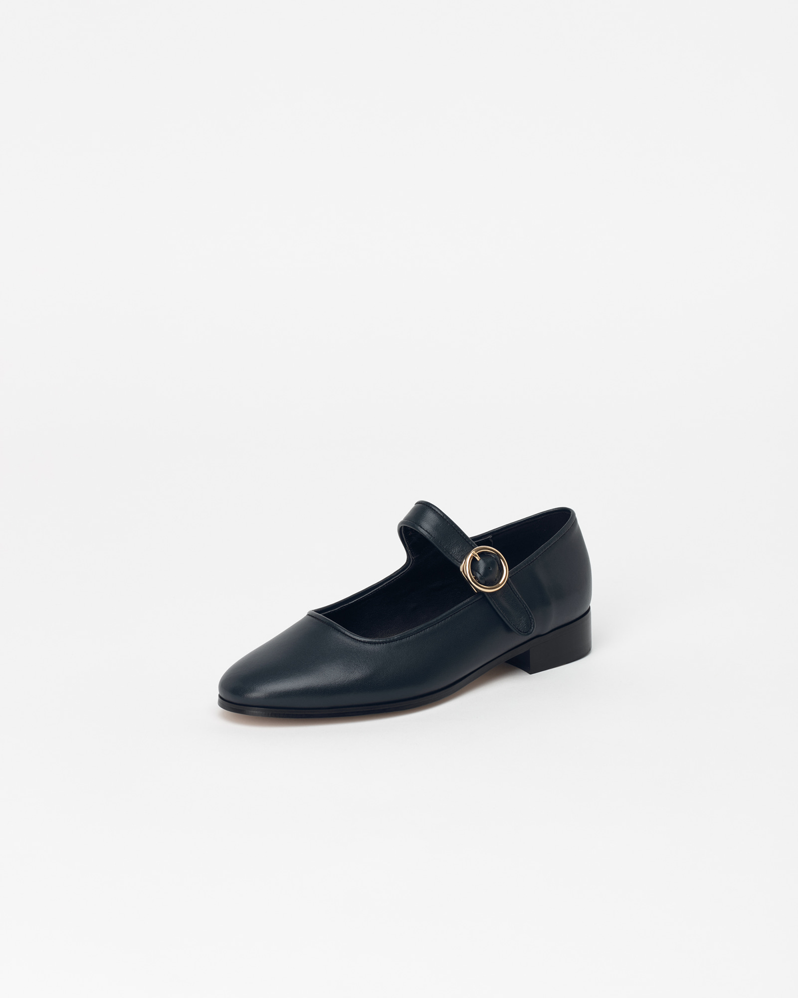 Benato Mary-jane Loafers in Midnight Navy