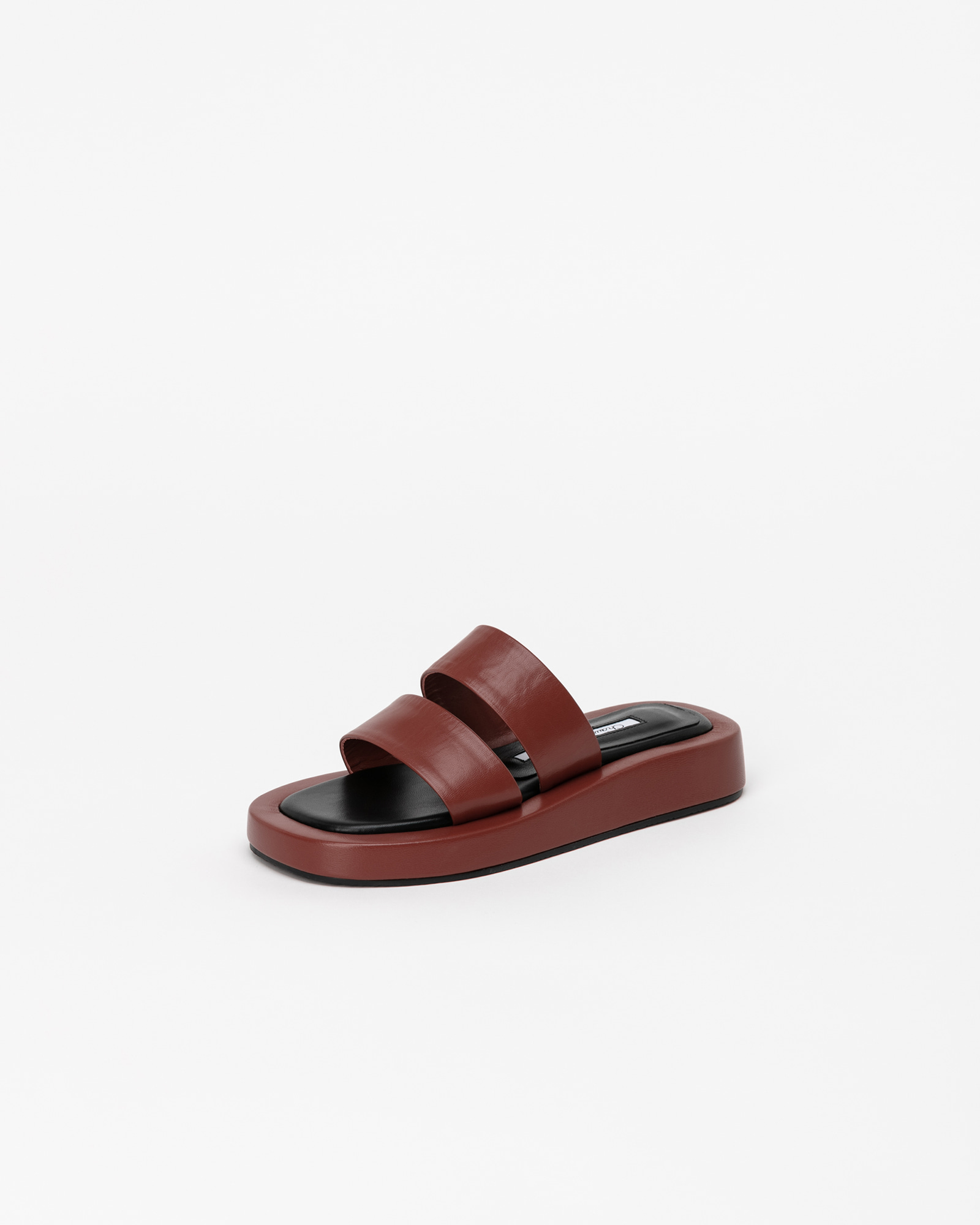 Avignon Footbed Thong Slides in Ruby Brown