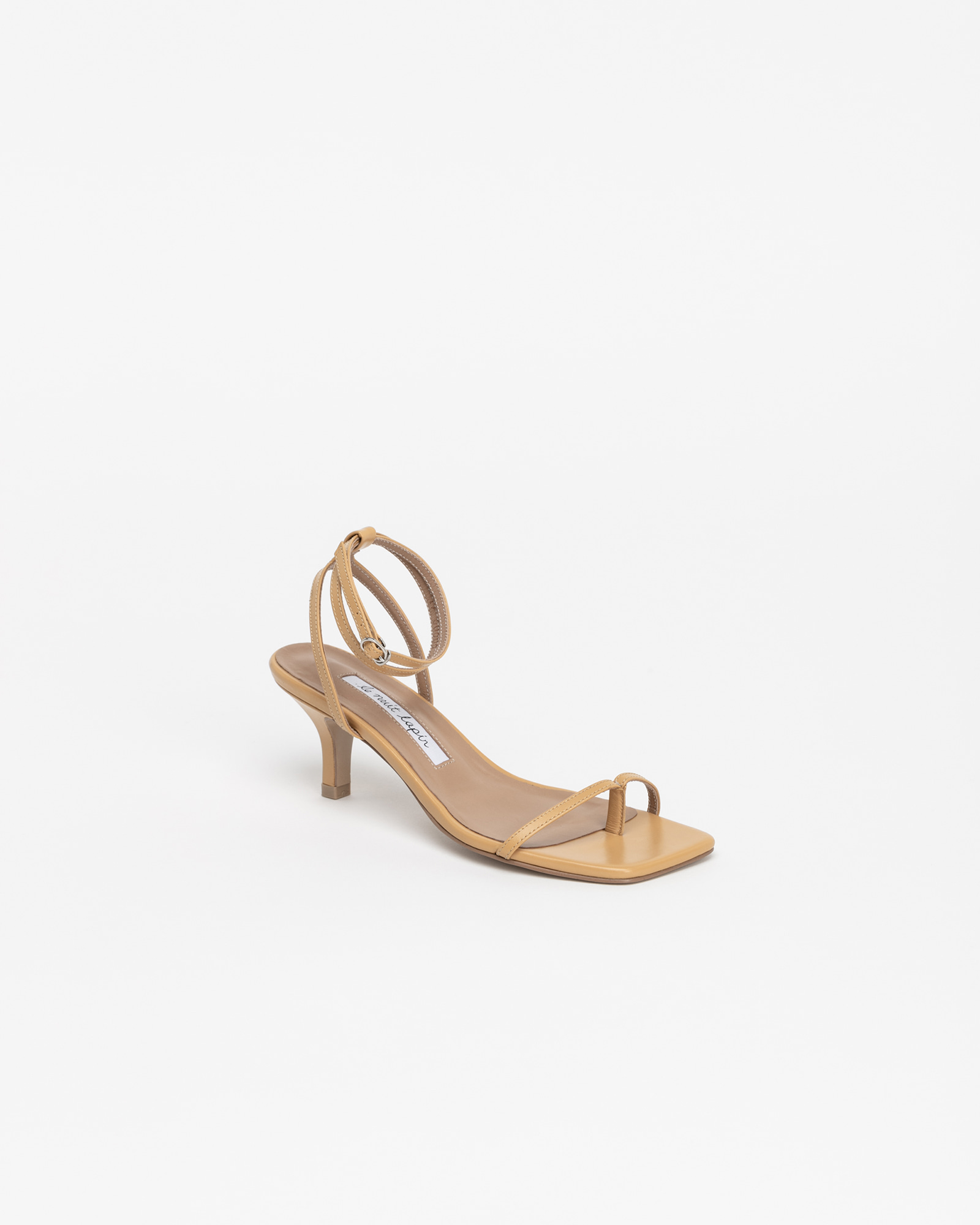 Evelaine Thong Strap Sandals in Fever Yellow